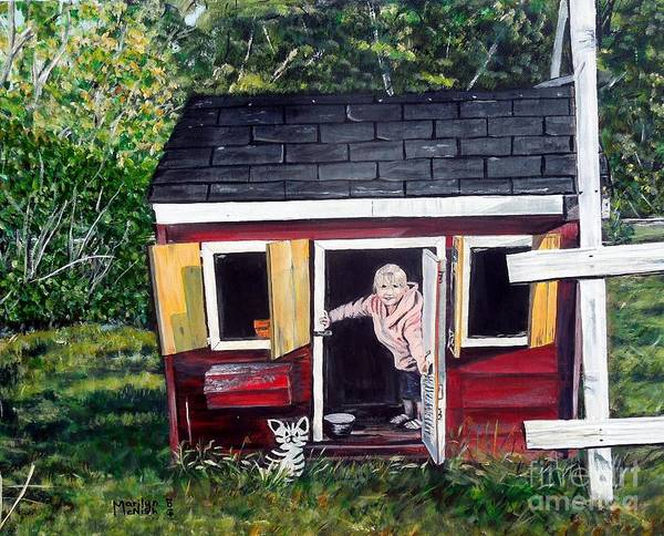 Painting - Grand-daughter Welcome by Marilyn  McNish