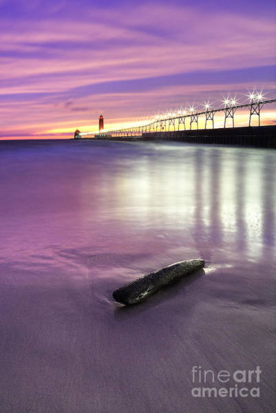 Haven Photograph - Grand Haven Beach And Pier by Twenty Two North Photography