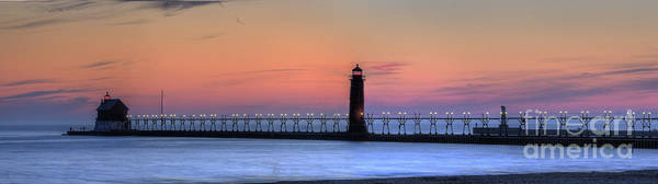 Haven Photograph - Grand Haven Lighthouses And Pier by Twenty Two North Photography