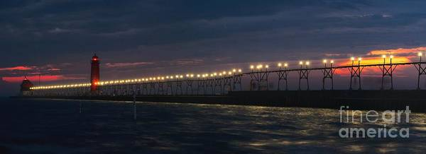 Photograph - Grand Haven Pier At Night by Nick Zelinsky