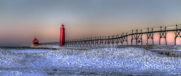 Haven Photograph - Grand Haven Winter Panorama by Twenty Two North Photography