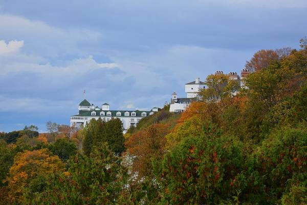 Photograph - Grand Hotel And Fort Mackinac by Keith Stokes