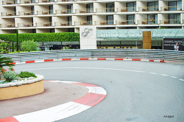 Photograph - Grand Hotel Hairpin At Monaco by Allen Sheffield