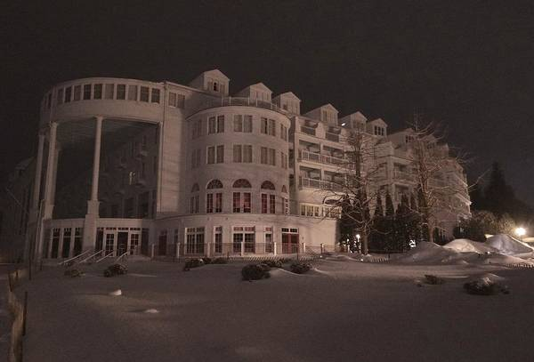Photograph - Grand Hotel On A Winter Night by Keith Stokes