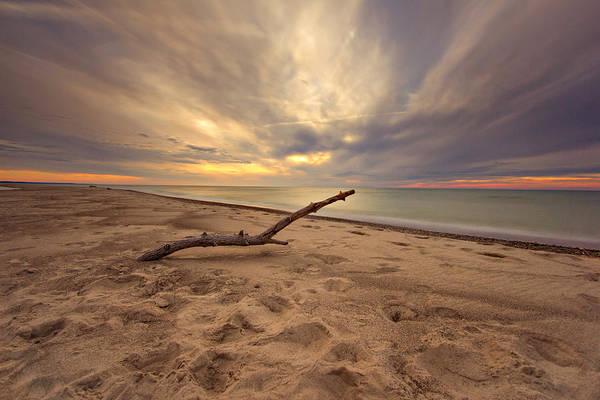Wall Art - Photograph - Grand Mere Sunset - Driftwood by Jackie Novak