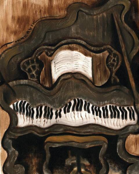Grand Piano Painting - Tommervik Abstract Grand Piano Art Print by Tommervik