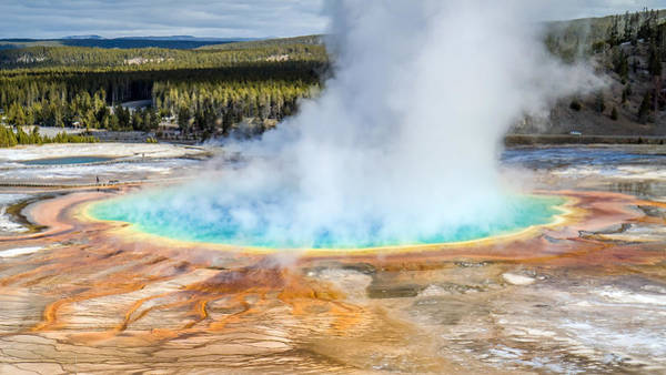 Photograph - Grand Prismatic Pool by Pierre Leclerc Photography