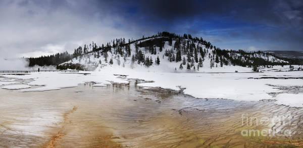 Photograph - Grand Prismatic Spring by David Lichtneker