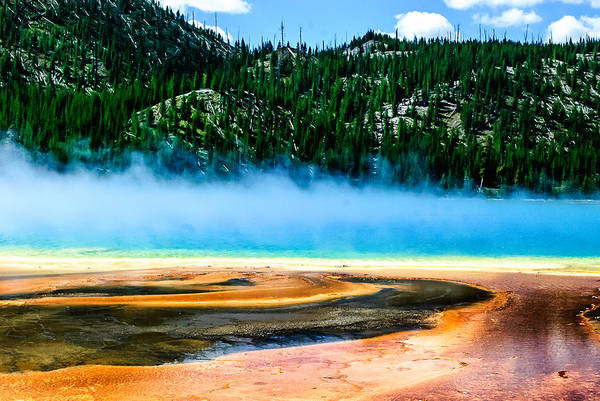Photograph - Grand Prismatic Spring  Lan 789 by G L Sarti