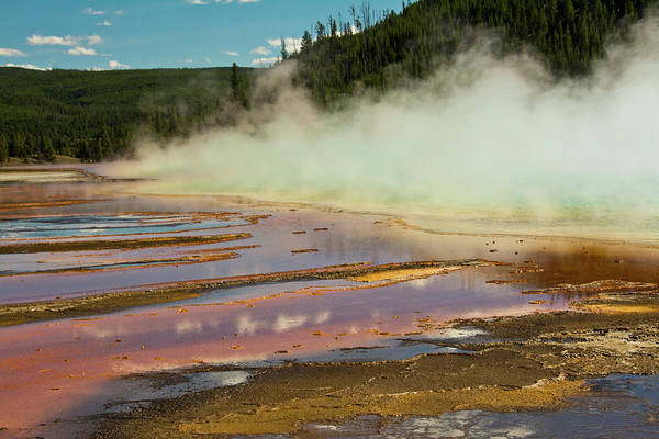 Deposits Wall Art - Photograph - Grand Prismatic Spring, Yellowstone by Michel Hersen