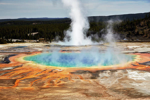 Yellowstone National Park Photograph - Grand Prismatic Spring, Yellowstone Park by Marco Brivio