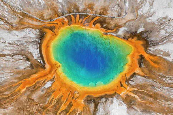 Usa Photograph - Grand Prismatic Spring, Yellowstone by Peter Adams