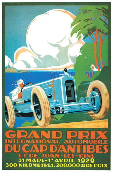 Photograph - Grand Prix by Vintage Automobile Ads and Posters