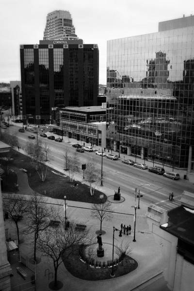 Photograph - Grand Rapids 4 - Black And White by Scott Hovind