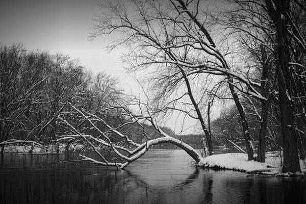 Photograph - Grand River In Winter by Randall Nyhof