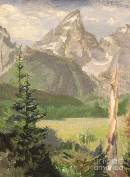 Painting - Grand Teton 1954 by Art By Tolpo Collection