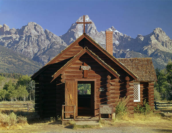 Photograph - 309227-grand Teton And Chapel by Ed  Cooper Photography