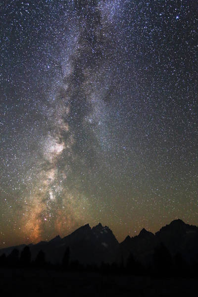 Grand Teton And The Milky Way Art Print