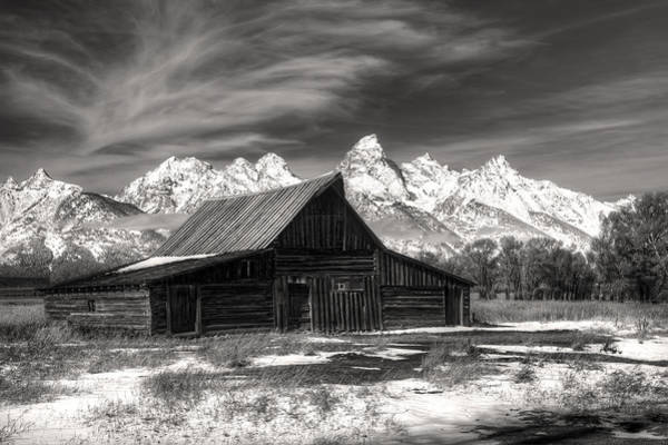 Photograph - Grand Teton National Park Moulton Barn In Black And White by Pierre Leclerc Photography