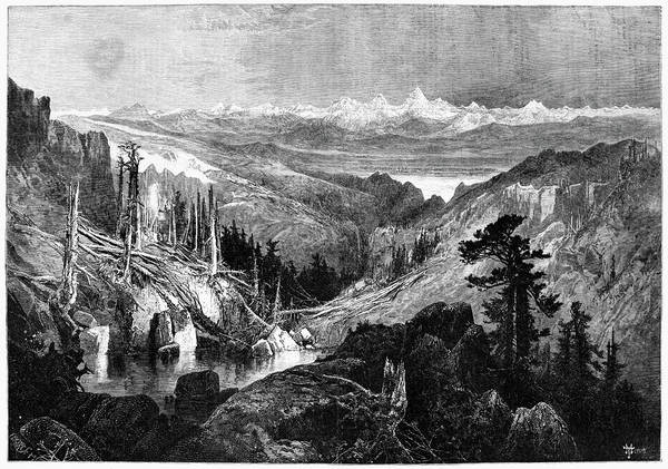 Wall Art - Painting - Grand Teton Range, 1882 by Granger