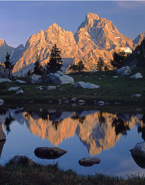 Photograph - 1m9376-grand Teton Reflect 2 by Ed  Cooper Photography