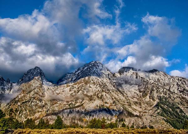 Teton National Park Digital Art - Grand Tetons by Kathleen Bishop