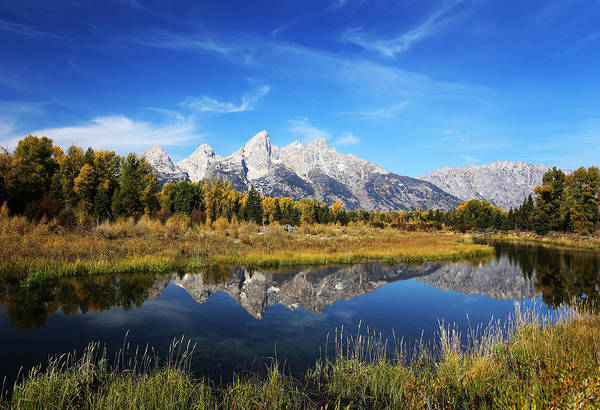 Photograph - Grand Tetons Reflection by Jean Clark