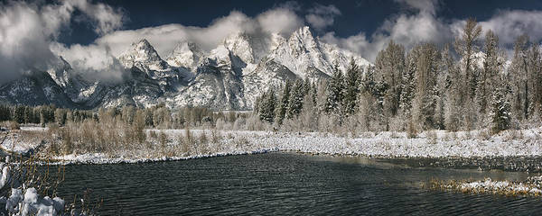 Schwabacher Photograph - Grand Tetons by Robert Fawcett