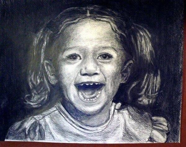 Wall Art - Drawing - Grandaughter by Lauren  Pecor