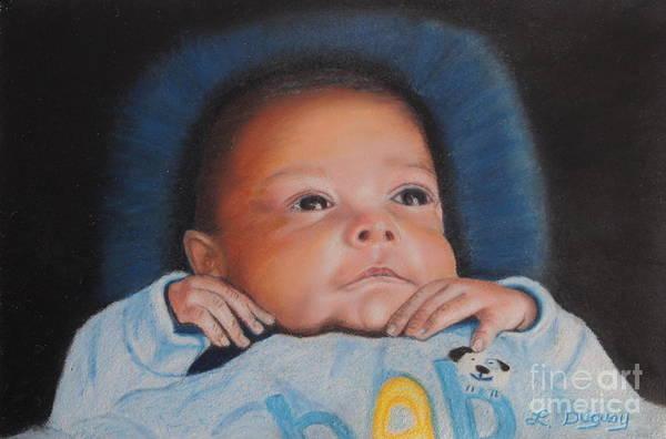 Mixed Media - Grandbaby John by Lora Duguay