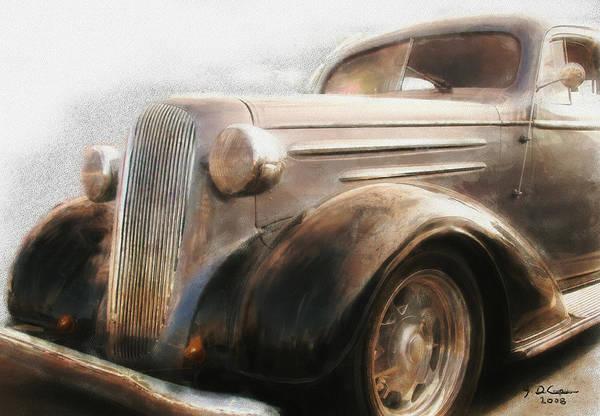 Digital Art - Granddads Classic Car by Gary De Capua