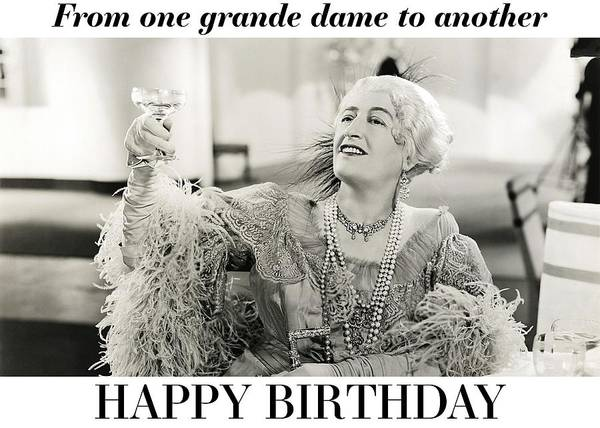 Wall Art - Photograph - Grande Dame Birthday Greeting Card by Communique Cards