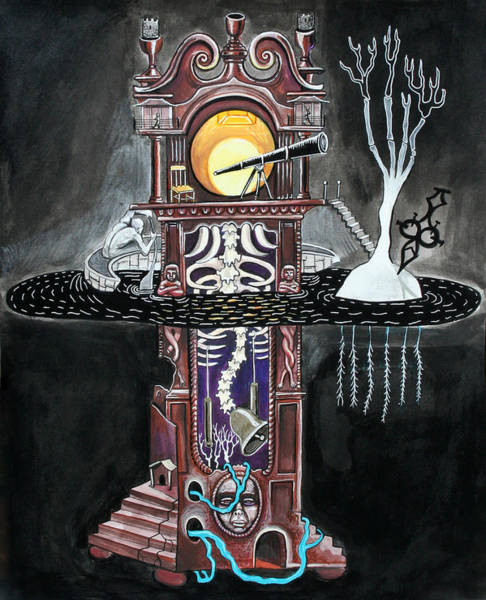 Grandfather Clock Painting - Grandfather Clock by Stephen Karla
