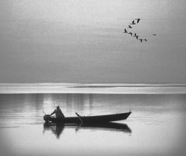 Grandpa Photograph - Grandfather Was A Fisherman by Daniel Hagerman