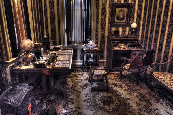 High Dynamic Range Digital Art - Grandfather's Office by William Fields