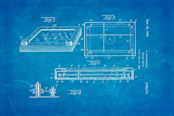 Wall Art - Photograph - Grandjean Etch A Sketch Patent Art 1962 Blueprint by Ian Monk