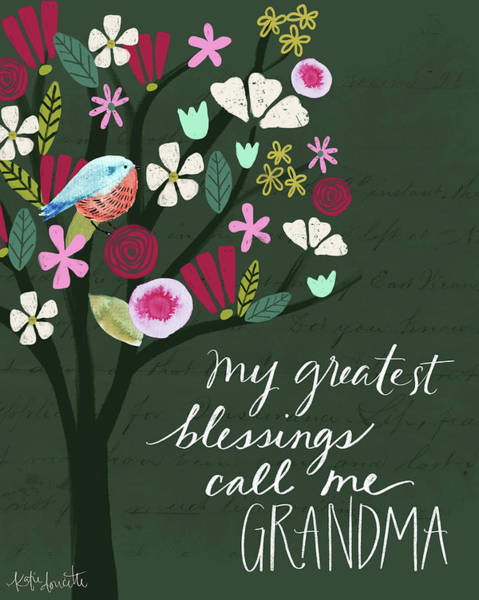 Wall Art - Painting - Grandma by Katie Doucette