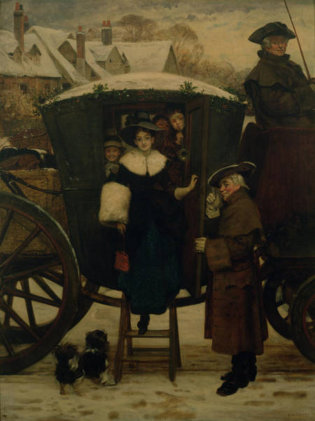Carriages Painting - Grandmamas Christmas Visitors by George Adolphus Storey