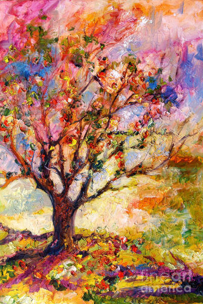 Painting - Impressionism Grandmas Apple Tree by Ginette Callaway