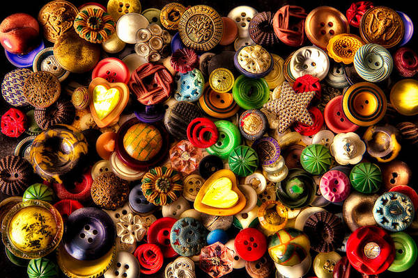 Photograph - Grandma's Buttons by Robert FERD Frank