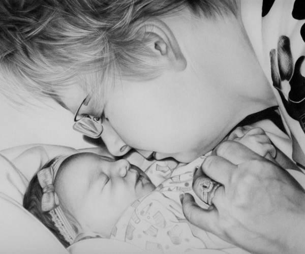 Wall Art - Drawing - Grandma's Love by Natasha Denger