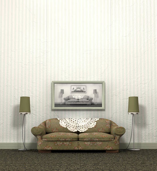 Cable Digital Art - Grandmas Old Sofa by Allan Swart