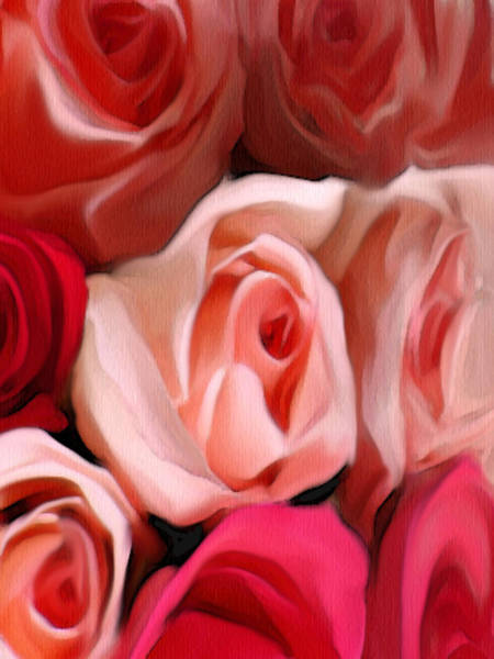 Digital Art - Grandmas' Roses by Dennis Buckman