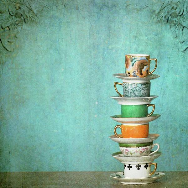 Fragility Photograph - Grandmas  Tea Cups by Beata Malinowski