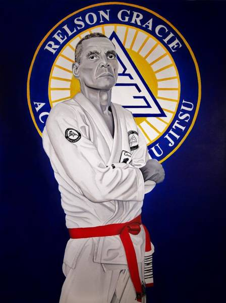 Brazil Painting - Grandmaster Relson Gracie by Brian Broadway