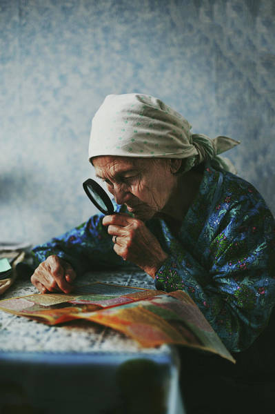 Russia Wall Art - Photograph - Grandmother by Natalia Zhukova