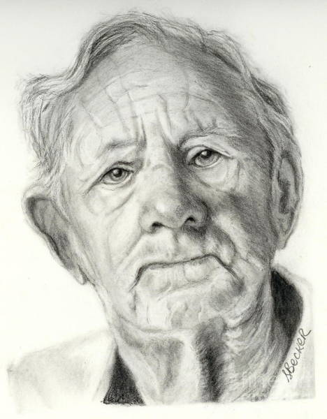 Painting - Grandpa Full Of Grace Drawing by Susan A Becker