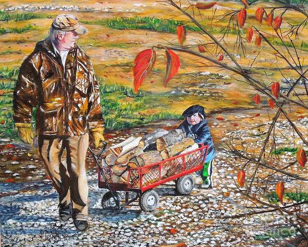 Painting - Grandpa's Helper by Marilyn  McNish
