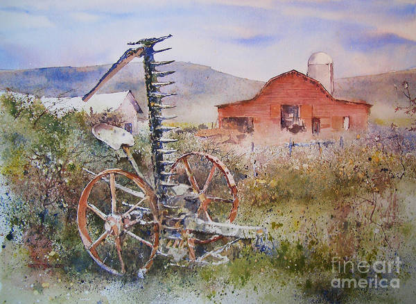 Painting - Grandpa's Mower by Monte Toon