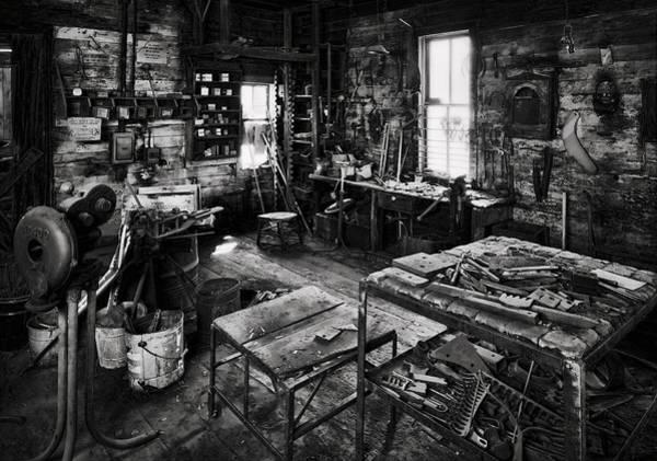 Grandpa Photograph - Grandfather's Shop by Daniel Hagerman